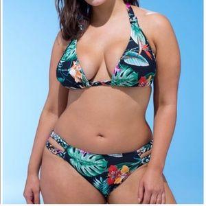 Ashley Graham braised tropical bikini 14/16